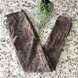 Levi's 711 skinny tropical plants leaves jeans